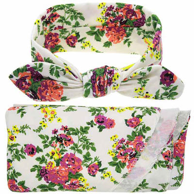 Floral Printed Kids Wrap Swaddle Receiving Blankets