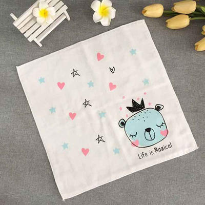Children muslin 100% cotton face towel  handkerchief
