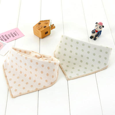 Triangle organic colored cotton baby bibs drool towel