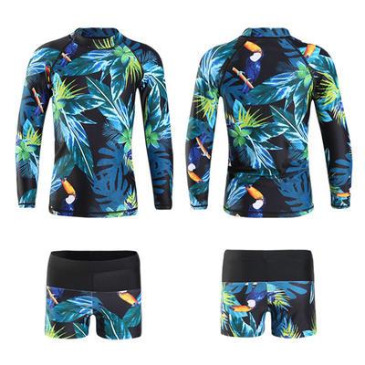 Kids Diving Suit Sunscreen 3 Pcs Long-sleeved Snorkeling